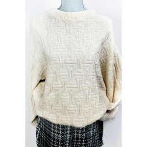 Vintage Over-sized Chunky Knit Soft Cozy Sweater